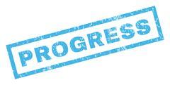 Progress Rubber Stamp Piirros