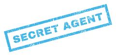 Secret Agent Rubber Stamp Stock Illustration