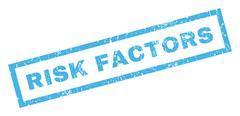Risk Factors Rubber Stamp Stock Illustration