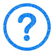 Question Rounded Icon Rubber Stamp Stock Illustration