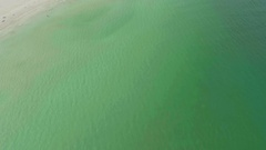 Green Colored Beach Water Above Overhead Aerial View Tropical Miami Florida Stock Footage
