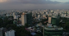 Aerial Footage of Ho Chi Minh City Sigon, Vietnam Stock Footage