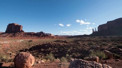 8K Monument Valley Time Lapse at John Ford Point USA Desert Rock Formation Stock Footage