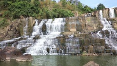 Amazing Pongour waterfall in Vietnam Stock Footage