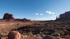 8K Monument Valley Time Lapse at John Ford Point USA Desert Rock Formation Pan R Stock Footage