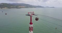 Aerial Footage of Nha Trang, Vietnam Stock Footage