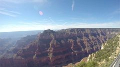 Pan motion timelapse view from a viewpoint, at Grand canyon north rim, in A.. Stock Footage