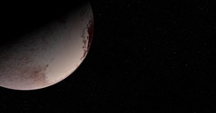 New Horizons data: Slow departure from Pluto Stock Footage