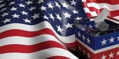 Ballot box us elections flag background Piirros