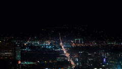 8K San Fernando Valley Night Time Lapse of Glendale and Universal City Tilt Down Stock Footage