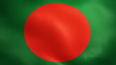 Bangladesh Flag. Background Seamless Looping Animation. 4K High Definition Video Stock Footage