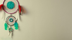 Dreamcatcher on the wall Stock Footage