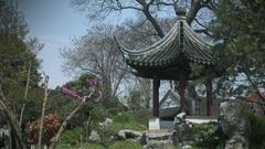 Park of five peaks in Suzhou, Jiangsu province, China. Stock Footage