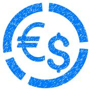 Currency Diagram Grainy Texture Icon Stock Illustration