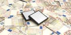 Circuit Money euro 50 stack all background Stock Illustration
