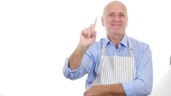 Cooking Specialist in Commercial Chef Make No Finger Sign Hand Gesture. Stock Footage