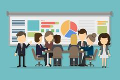 Business conference concept. Stock Illustration