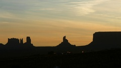 Timelapse from gouldings hotel towards navajo desert mountain tops,  at a e.. Stock Footage