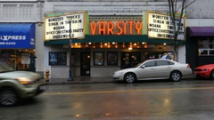 Varsity Movie Theatre Marquee Stock Footage