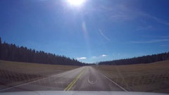 Timelapse hyperlapse of driving on route 89A, to North rim, Grand canyon, i.. Stock Footage