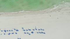 Miami South Beach Above Overhead Landscape Stock Footage