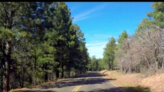 Timelapse hyperlapse of driving on route 89A, away from North rim, Grand ca.. Stock Footage