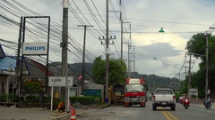 Highway of Phuket Island Stock Footage
