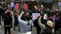 Protest, Demonstration, March Stock Footage