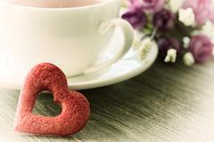 Valentines day cookies Stock Photos