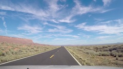 Timelapse hyperlapse of driving on route 89A, near marble valley, in Arizon.. Stock Footage