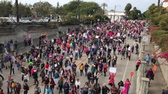 Women's March Washington Peaceful Protest California 4K Stock Video Footage Stock Footage