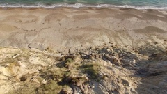 Dramatic aerial footage of the south coast of England near Bournemouth Stock Footage
