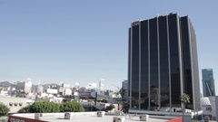 CNN Hollywood building, wide Stock Footage