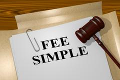 Fee Simple - legal concept Stock Illustration