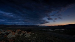 Sunrise in the mountains of Mongolian Altai, Mongolia. Full HD Stock Footage