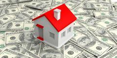 House Money dollar 100 stack all background Stock Illustration