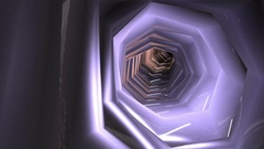 Tunnel spacecraft. Smooth flight. The concept of extraterrestrial life  Stock Footage