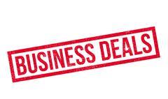 Business Deals rubber stamp Stock Illustration