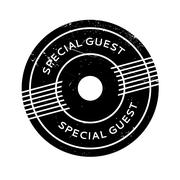 Special Guest rubber stamp Stock Illustration