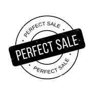 Perfect Sale rubber stamp Stock Illustration