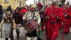 Kuker festival Breznik, Bulgaria Stock Footage