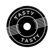 Tasty rubber stamp Stock Illustration
