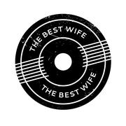 The Best Wife rubber stamp Stock Illustration