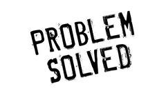 Problem Solved rubber stamp Stock Illustration