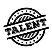 Talent rubber stamp Stock Illustration