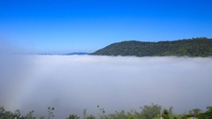 Time-lapse of fog in the morning with mountain at Khao Kho, Phetchabun, Thailand Stock Footage