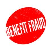 Benefit Fraud rubber stamp Stock Illustration