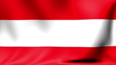 Austria Flag. Background Seamless Looping Animation. 4K High Definition Video Stock Footage