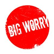 Big Worry rubber stamp Stock Illustration
