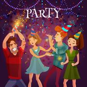 Birthday Party Celebration Festive Background Poster Piirros